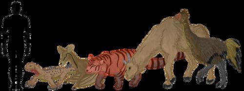 The Madagascan Desert Animals: Size Comparison by GlazeSugarNavalBlock