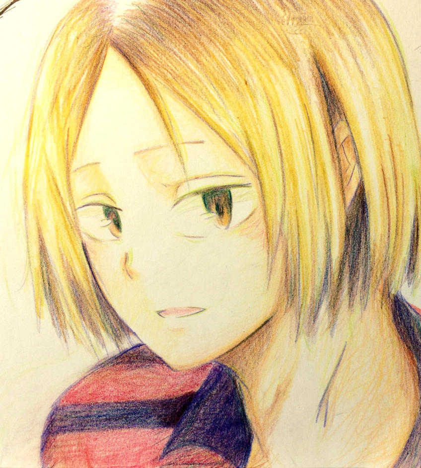 Kenma colour pencil by xmeltedxazukix
