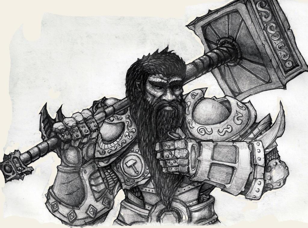 Dwarf With Hammer by DeGrin on DeviantArt