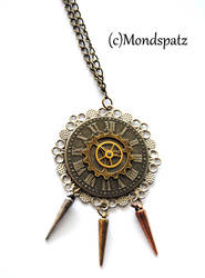 Steampunk spiked pendant
