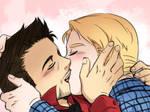[Steve/Tony] Kiss
