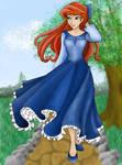 Ariel walking