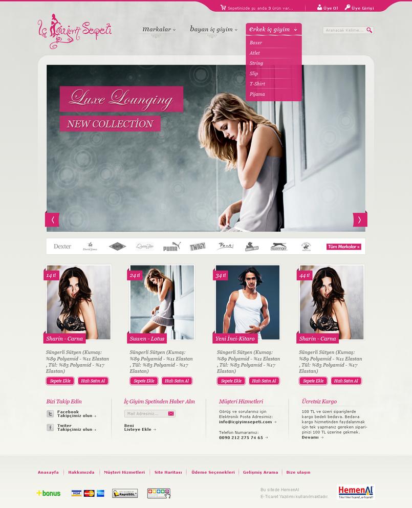 ic giyim sepeti by doganaydemir d39vlft Web Interface Roundup of Web Design Inspiration