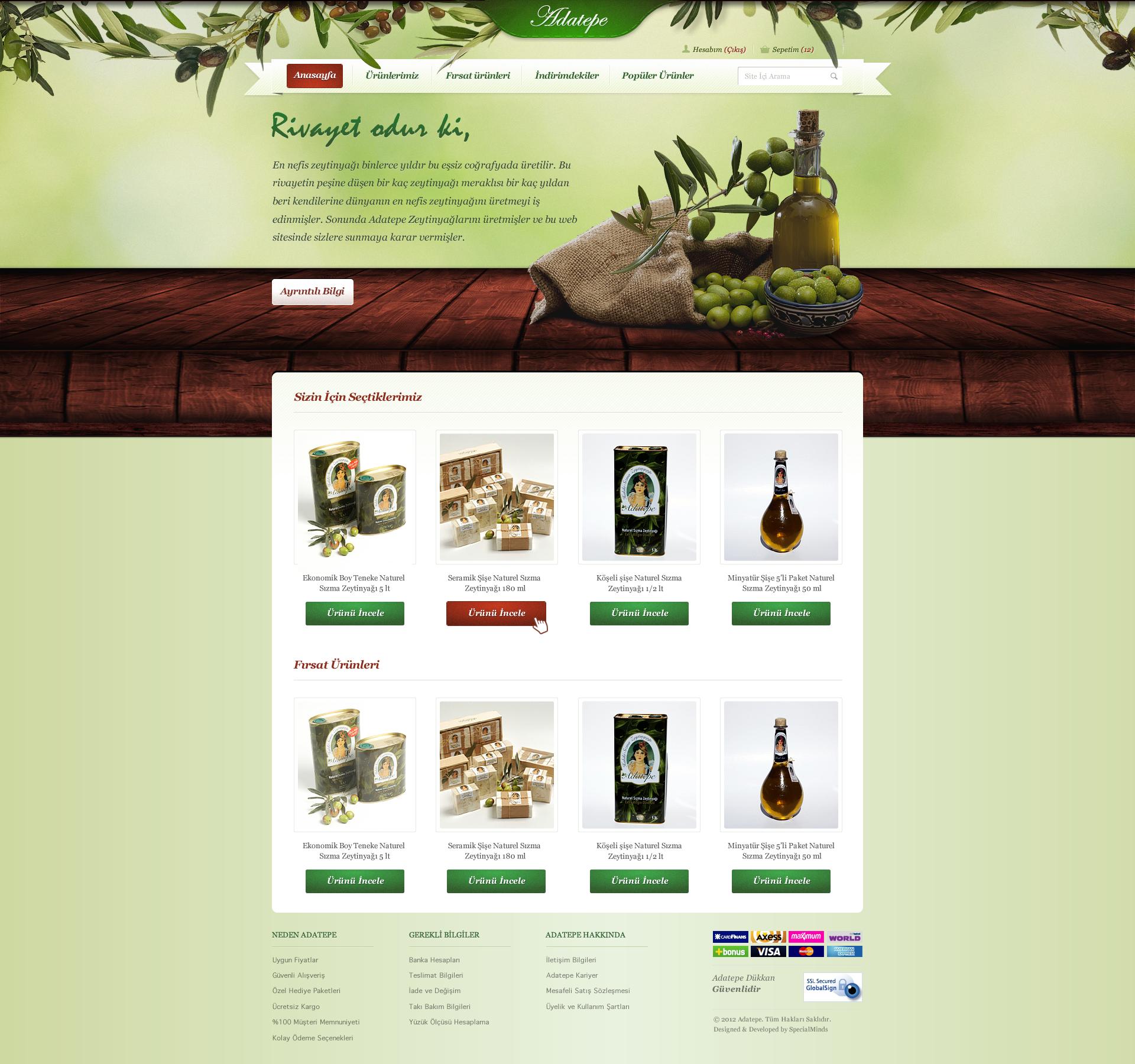 Design for an Olive Oil Brand by DoGaNAydemir
