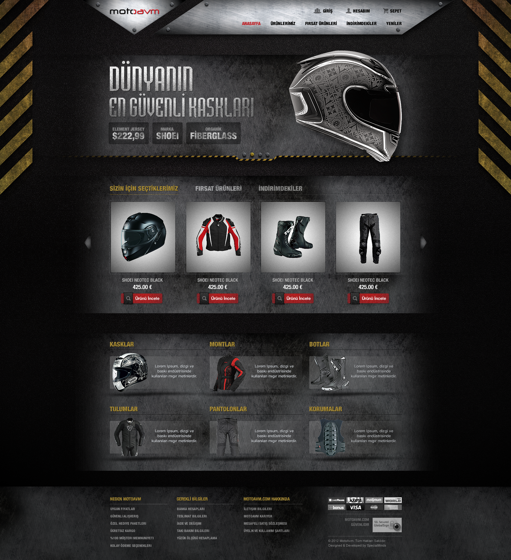 Motorcycle Accessories Website by DoGaNAydemir