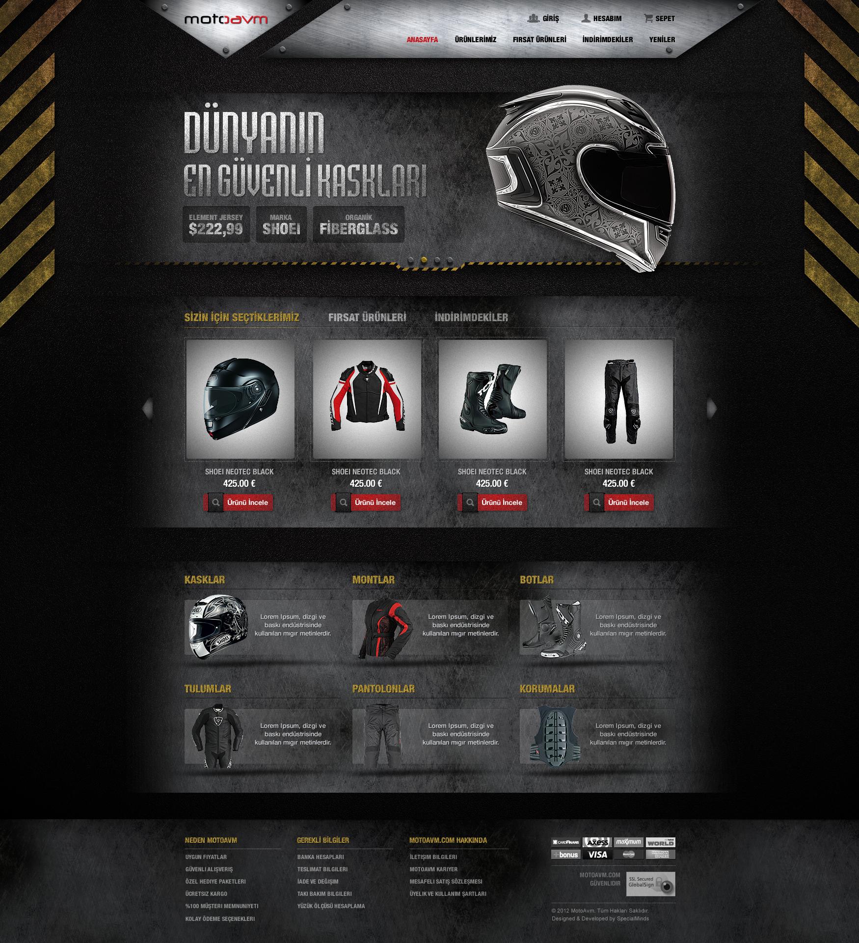 Motorcycle Accessories Website by DoGaNAydemir