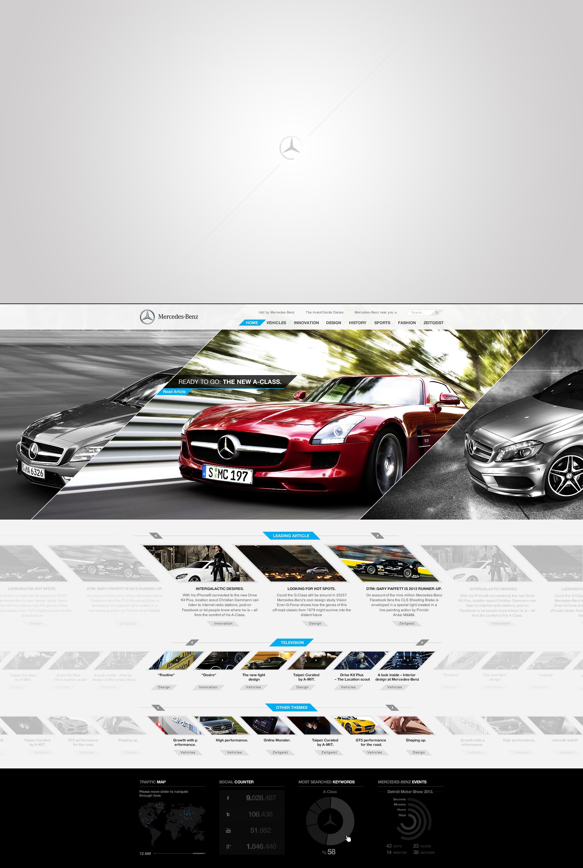 Mercedes-Benz [Re]design / FREE Fireworks Png by DoGaNAydemir
