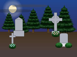 kisekae2 - Graveyard Background by DARAKIS