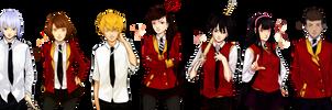 ToG in School Uniforms by xikoftog