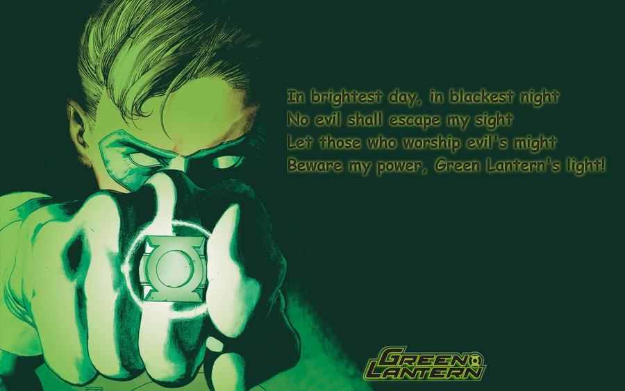 green lantern oath by d4rKp3n4nc3 on DeviantArt