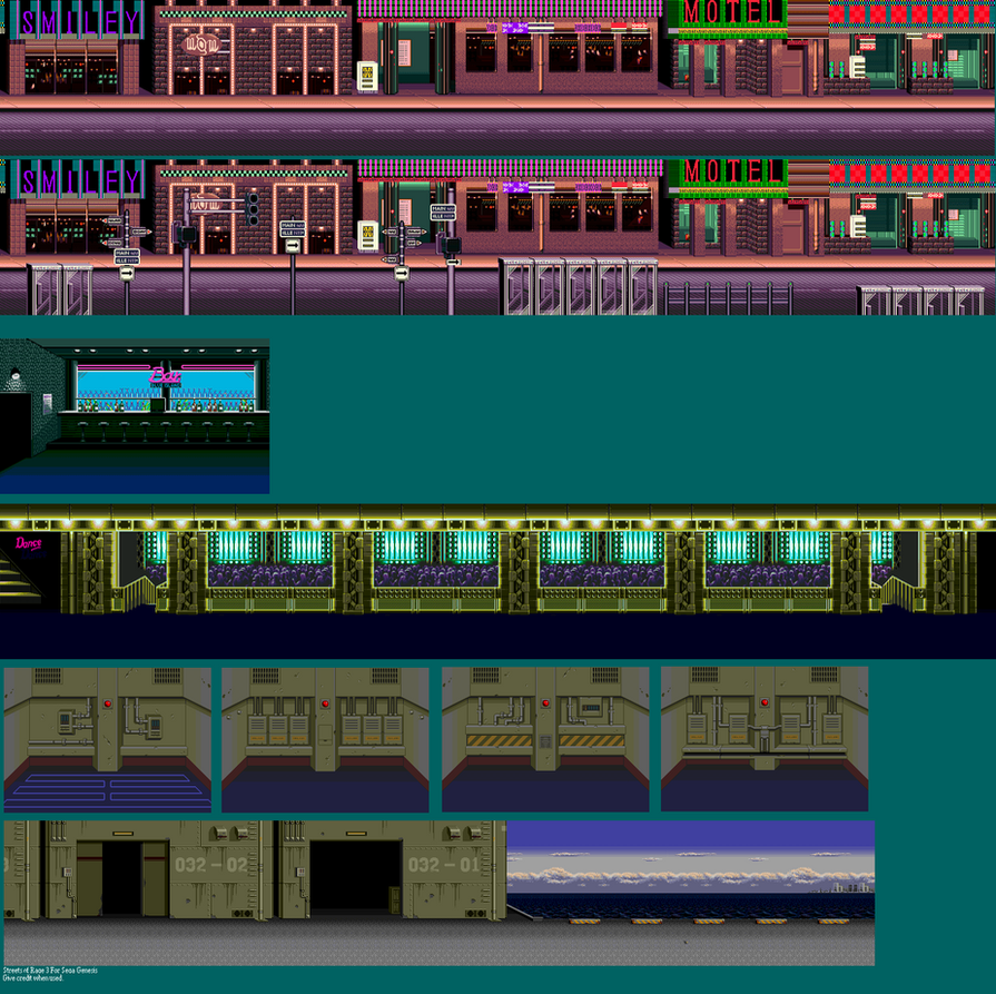 Streets Of Rage 3 (Sprite Backgrounds) by pokeczarelf