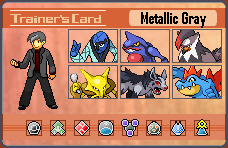 Pokemon Trainer Card: Metallic Gray by pokeczarelf