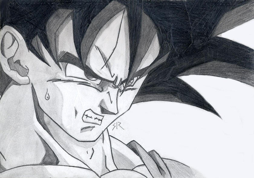 Goku..KA...ME..HA..ME..HAAAAAA by Hand-Drawn