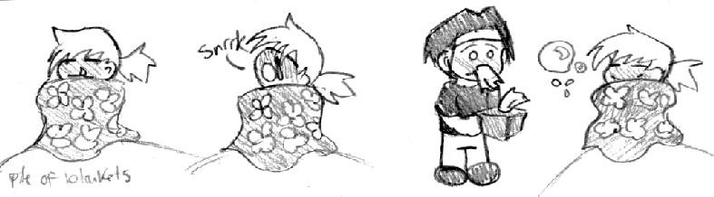 Pkmn: Orange Sniffles by littledinosaurarms