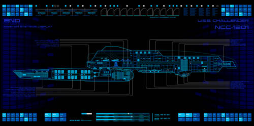 USS Challenger Master Systems Monitor by BuzaNorbi