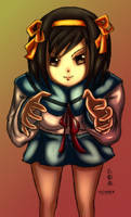 Beware the hands of Haruhi CG by ppn