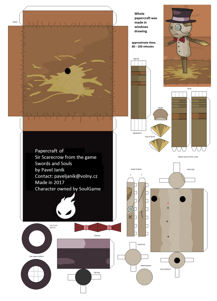 Sir Scarecrow papercraft template by komodor55 on DeviantArt