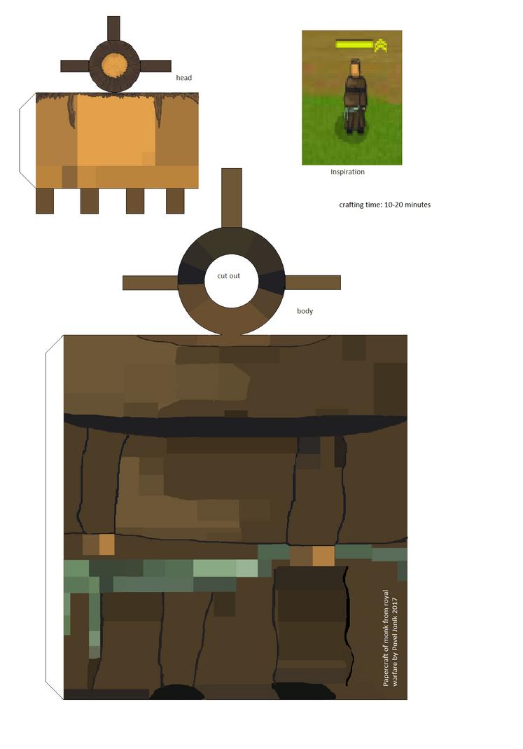 Royal Warfare Monk papercraft by komodor55
