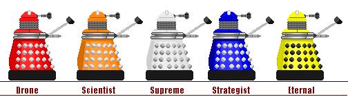 Progenitor Daleks Sprites by shadowthewedgehog