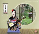 Sayo playing the Shamisen by SayuriMVRomei