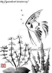 Aquarium - sumi-e by SayuriMVRomei