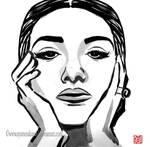 Maria Callas - Sumi-e portrait