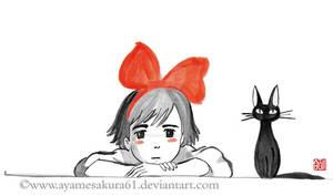 Kiki and Jiji 2 - sumi-e