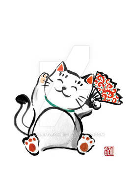 Sumi-e Cat (commission)