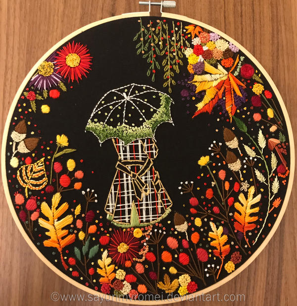 Embroidery - Fall colors