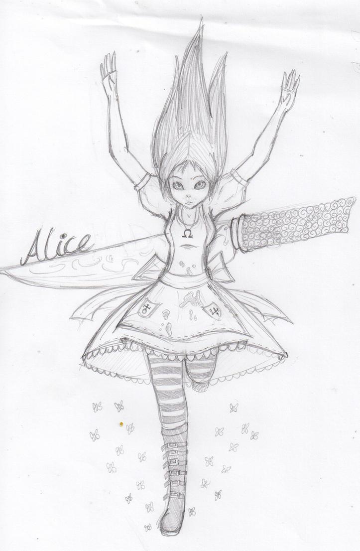 Alice Madness Returns Sketch By Mangetsu15 On DeviantArt