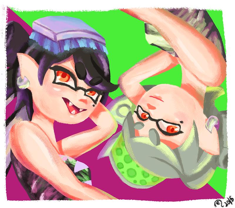 Splatoon - Squid Sisters by REManiac