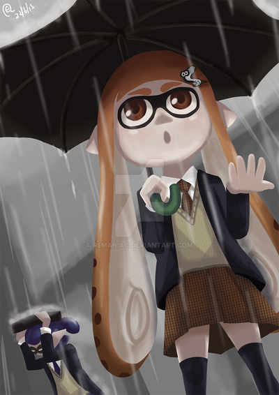 Splatoon -Raining- by REManiac