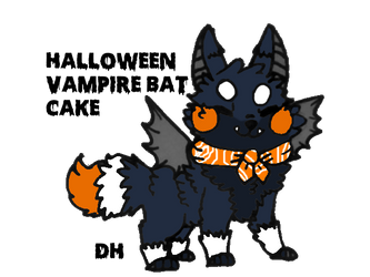 Halloween Vampire Bat Cake Sushi Dog by donkeyhooves