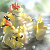 Belated Bowser Day by benj24