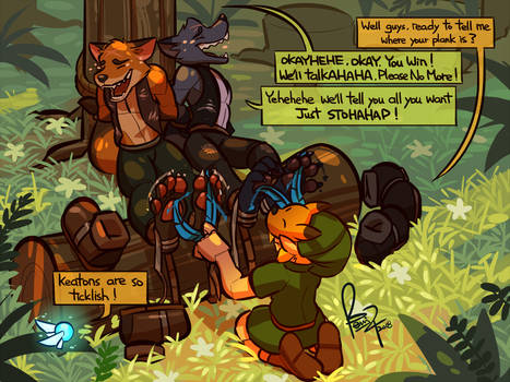 Commission: Punishment For Sneaky Keatons