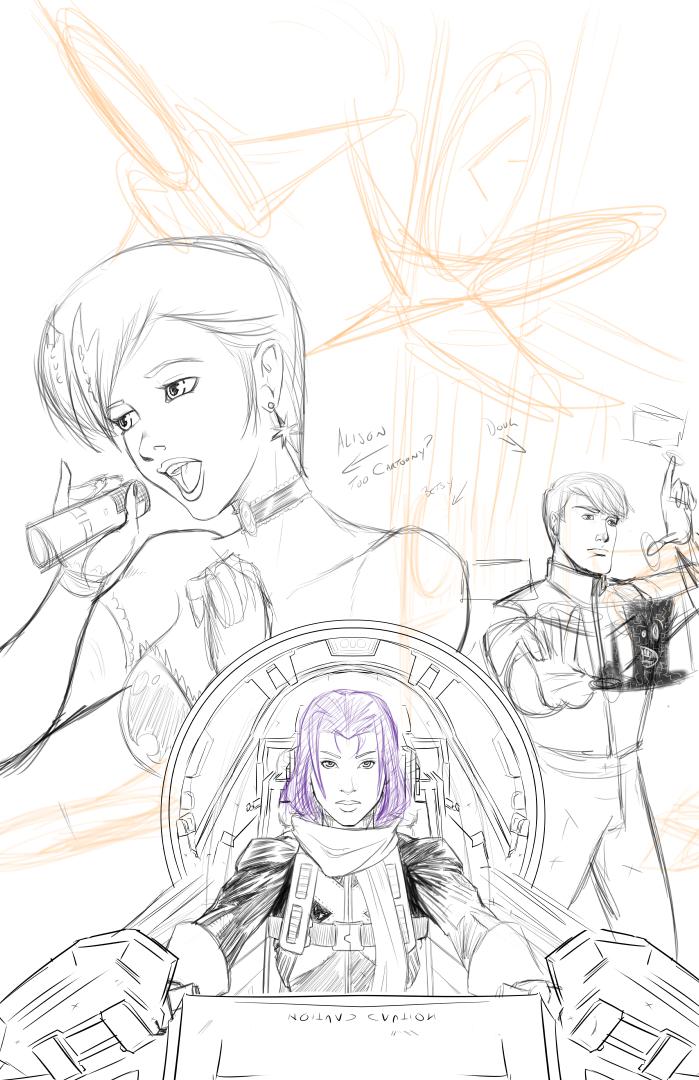 Capt. Elisabeth Redux - Sketch by ZhaxRa