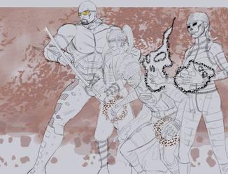 Villians of the Zhax-verse! (Sketch) by ZhaxRa