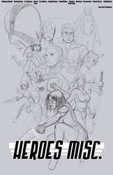 Heroes Misc. Sketch - Movie Poster Tribute by ZhaxRa