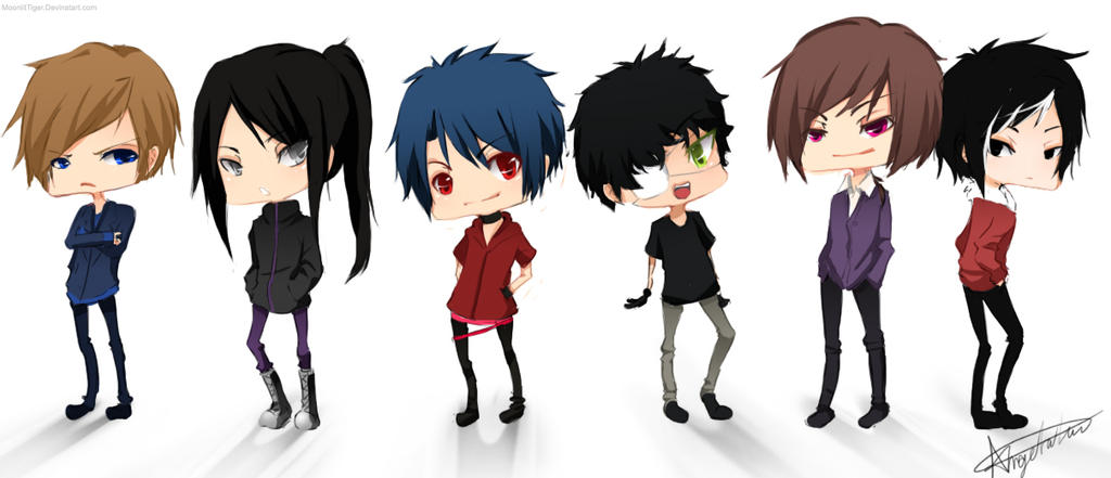 Chibi group - Team Ryouta by Calvariae