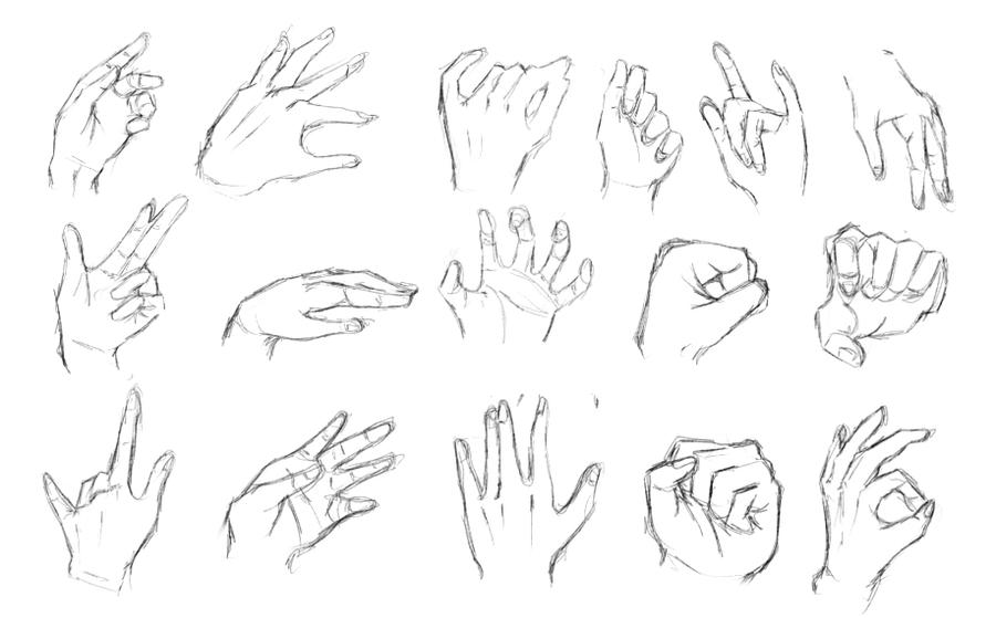 Scribble Drawing Exercise : Hand exercises by calvariae on deviantart