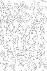 50 male poses by Calvariae
