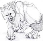 werewolf sketch snarl