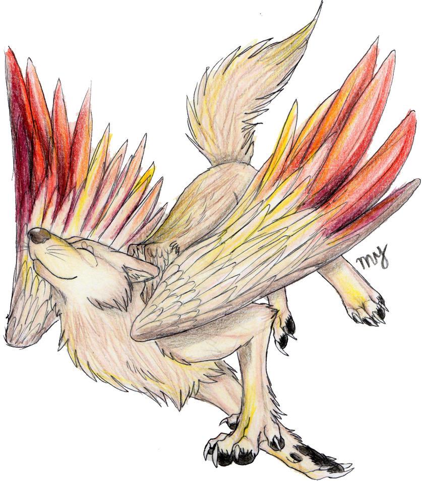 winged wolf by Suenta-DeathGod on DeviantArt
