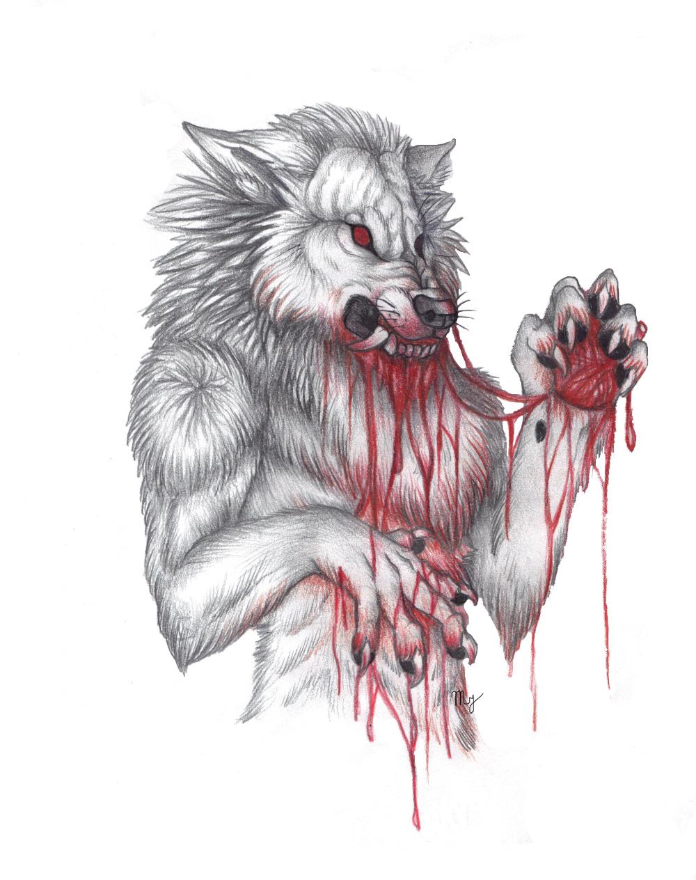 white werewolf by Suenta-DeathGod