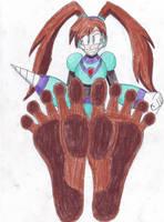 Quake Woman Dirty Feet Traditional by DanMega9257