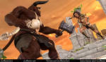 Astraia VS Minotaur by Jizz-Master-Zero