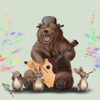Balalaika Bear by Irbisty