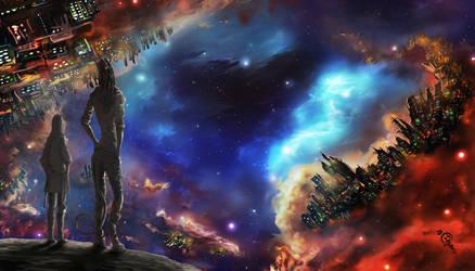 Nebula City by Irbisty