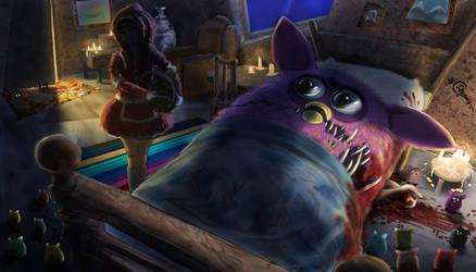 Furby's dark...dark secret by Irbisty