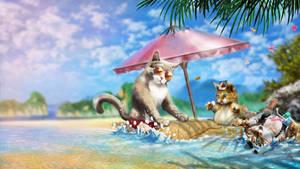 Devious Desktops: Warm Vibes  Feeling Summer